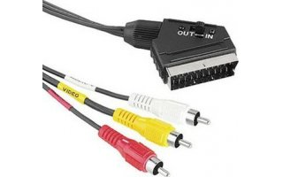 Scart cinch 1,5m 21 pin